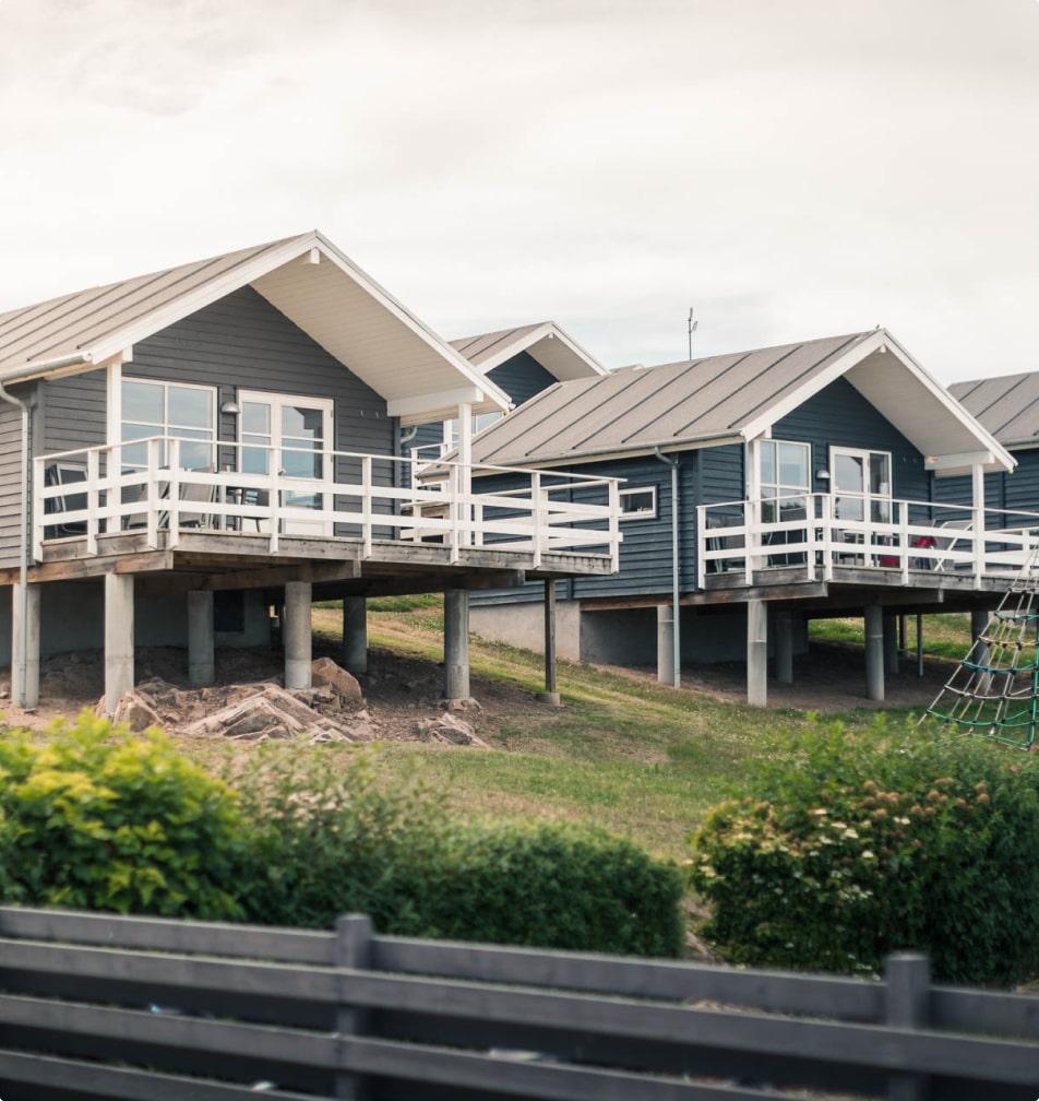 Campinghytter og luksushytter på Bornholm