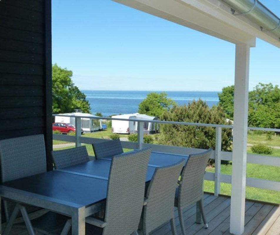 udsigt over østersøen fra luksushytte med spa
