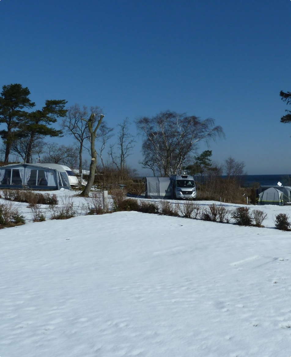 vintercamping på Bornholm