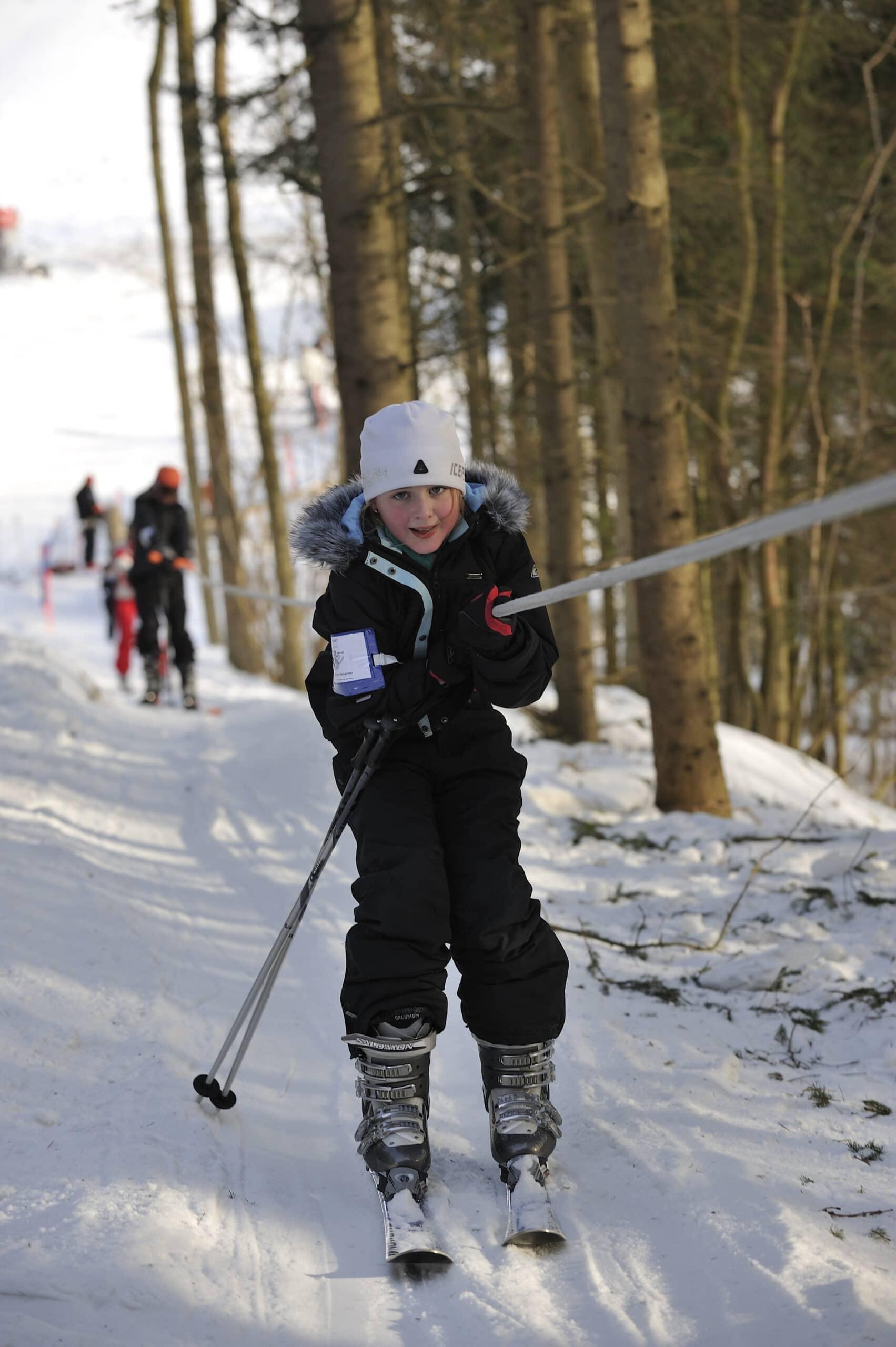 Skilift på Skibakken Bornholm - Sannes